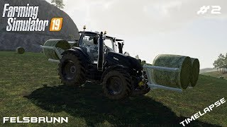 Baling a grass and hay | Animals on Felsbrunn | Farming Simulator 19 | Episode 2