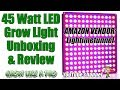 Lightimetunnel 45 Watt LED Grow Light Panel Unboxing And Review