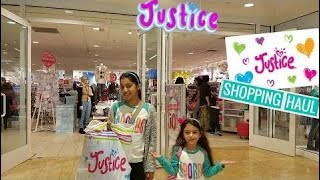 Funny Kids -  Justice Shopping Haul With Hadil And Heidi - Family Vlog - amy Calder