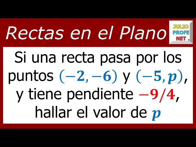 Ecuación con la pendiente de una recta-Equation with the slope of a line