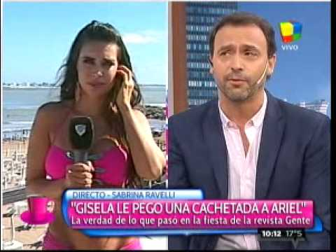 Gisela Bernal cacheteó a su ex y a Sabrina Ravelli