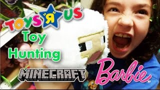 Toys R Us Shopping Toy Hunting Barbie and Minecraft
