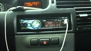 Opel Zafira Elegance stock audio with iPhone & JVC KD-R711 part.2