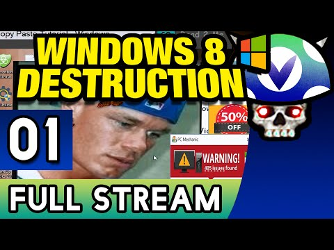 [Vinesauce] Joel - Windows 8 Destruction ( FULL STREAM ) ( Part 1 )