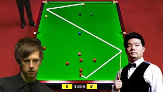 Ding Junhui won the game under the condition that his opponent made a classic snooker 52-0.