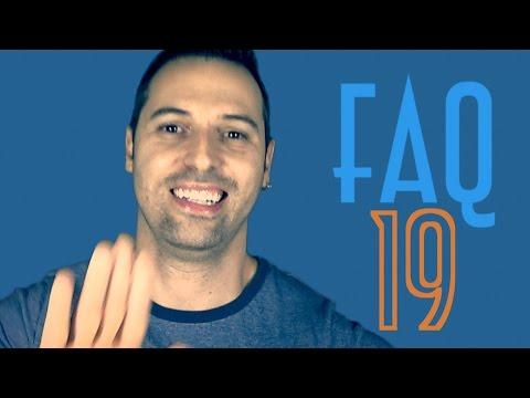 FAQ 19 (Esquecer Português / Frio / Tubarão / Aranha) - EMVB - Emerson Martins Video Blog