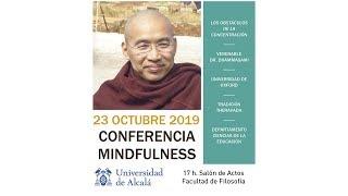 Conferencia del Venerable Dr  Dhammasami Los obstáculos de la concentración