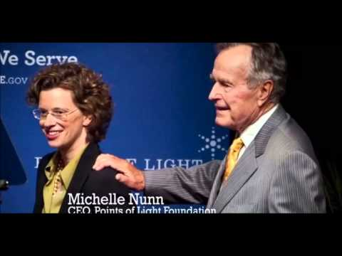 Georgia Democrat Michelle Nunn's Use of President Bush's Photo Continues to Draw His Ire