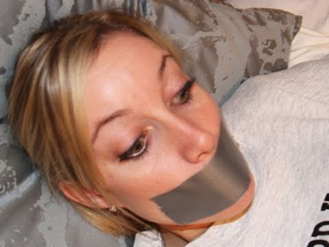 Girl Duct Taped To Bed