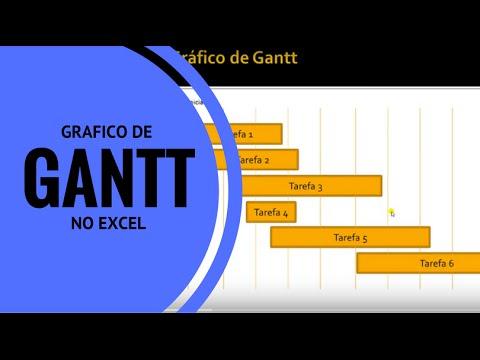 Como montar um gráfico de Gantt - Excel Avançado