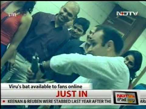 Launch Of Vs 319 Cricket Bats With Virender Sehwag video