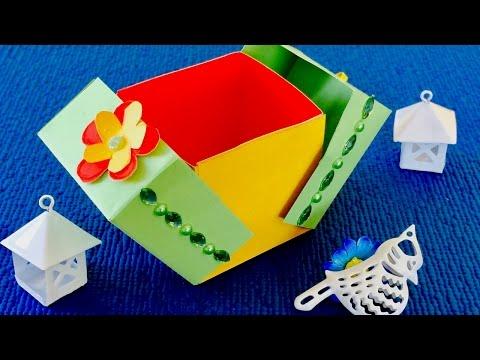 Как сделать из бумаги коробку с сюрпризом внутри