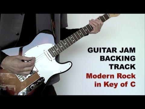Guitar Jam Backing Track - Modern Rock in Key of C (88 bpm)