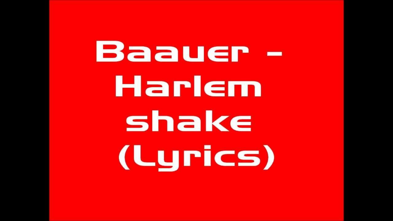 Harlem shake song lyrics in english