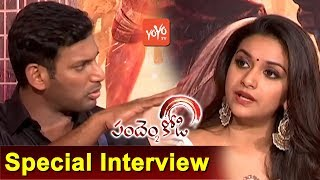Vishal And Keerthi Suresh Interview | Pandem Kodi 2 Telugu Movie Team