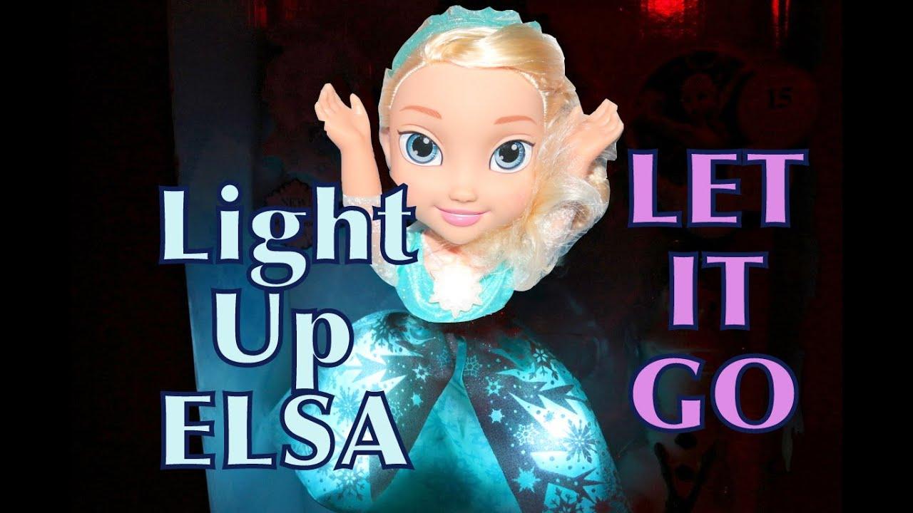 Frozen Elsa Singing Let It Go Snow Glow Light Up Princess