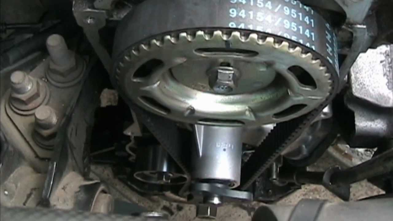 Water Pump Amp Timing Belt Replacement Mazda 323 Youtube