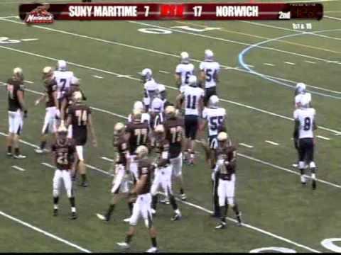 Football: Norwich University vs SUNY Maritime (N.Y.) 1st Half