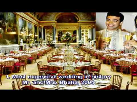 Ten Most Expensive Weddings in History - To The Rich Money Is No Object