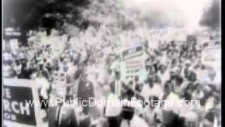 March on Washington Martin Luther King Jr Public Domain Footage Newsreel PublicDomainFootage.com