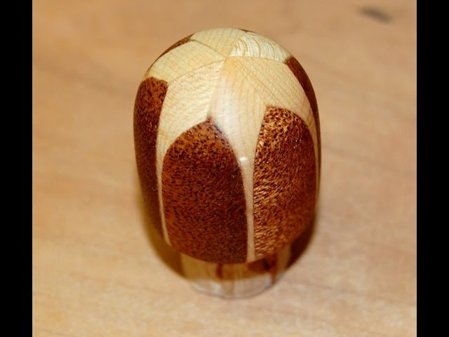 Woodturning How to Video - Wood Turn a Segmented Knob on a Wood Lathe