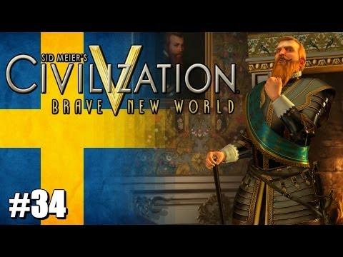 Civilization 5 Brave New World Let's Play - Immortal Sweden - #34 -