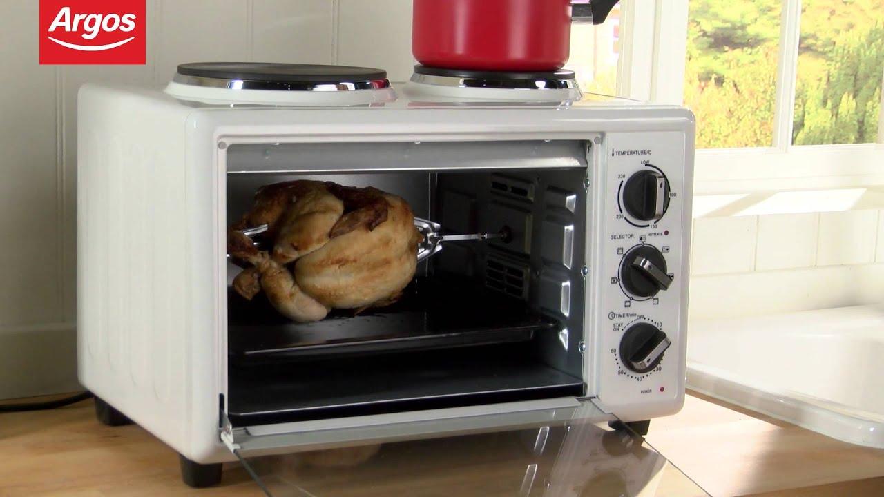 cookworks khb28rc10skh white mini oven with hob argos. Black Bedroom Furniture Sets. Home Design Ideas