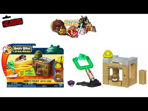 Angry Birds Star Wars Jabbas Palace Battle Game From Hasbro Review Unboxing