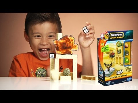 Angry Birds STAR WARS: JENGA TATOOINE BATTLE GAME Toy - Review & Unboxing