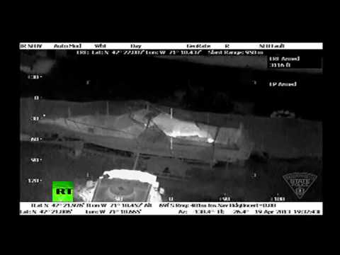 Boston manhunt IR video: Bombing suspect Tsarnaev hiding in Watertown boat
