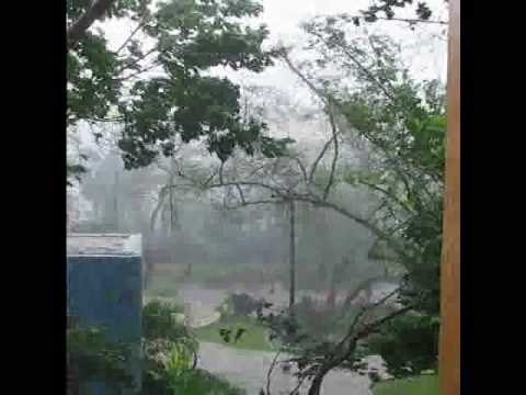 Amateur footage of Hurricane Wilma
