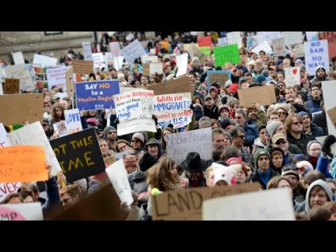 Trump inspires grassroots protest movement