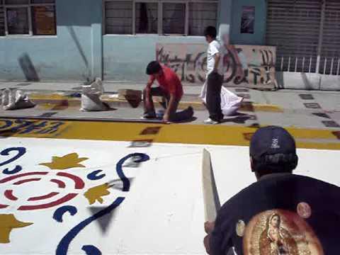 San Pedro Xalostoc como hacer un tapete 1 de 2