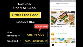 Order Free Food from UberEATS - Download App and Register