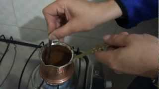 How to make Turkish coffee.