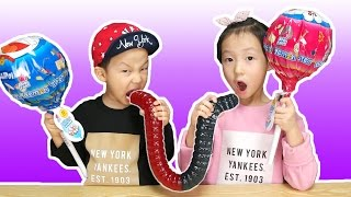 초거대 벌레 젤리와 왕 도라에몽 사탕 먹방 World's Largest Gummy Worm & Candy [제이제이튜브 - JJ tube]