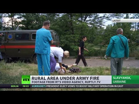 'Are they mad?' Slavyansk 'shocked' as Ukraine army shells residential area