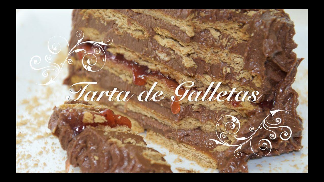 Tarta De Galletas Y Chocolate Para Cumpleanos Facil Y