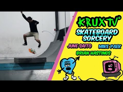 June Saito + Mike Paek + Brian Hastings = Skateboard Sorcery