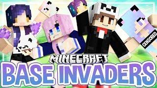 """Face"" Invaders?! | Base Invaders Minecraft Challenge"