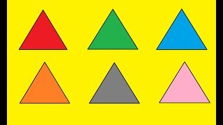 Learn colors for kids triangle Coloring Painting Paint