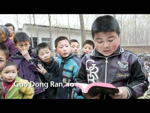 A Bible distribution in rural China