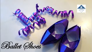 Paper Ballet Shoes Tutorial バレエシューズの折り方