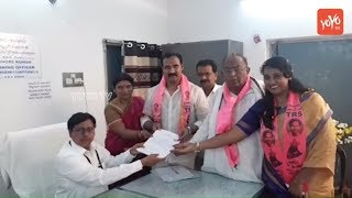 TRS MLA Candidate Bollam Mallaiah Yadav files nomination in Kodad | Nalgonda Politics