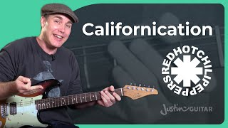 Red Hot Chili Peppers Californication  Guitar Lesson Tutorial no Tab