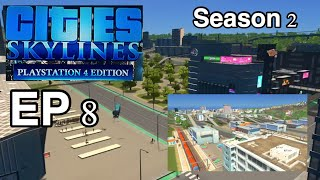Cities Skylines S2| Transport construction | Trains & Buses