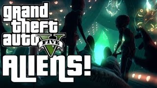 (GTA V) GTA 5: ABDUCTED BY ALIENS IN UFO | HDRAWR