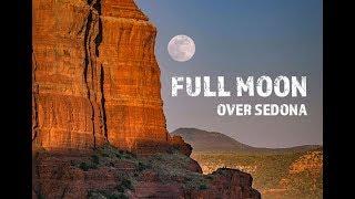 Landscape Photography: Full Moon at Sunset | Sedona, Arizona