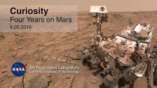 NASA VIDEO: Curiosity Rover Report August 5, 2016  Four Years on Mars