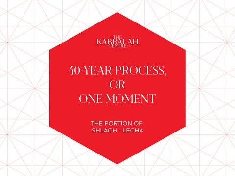 40-year process OR one moment (Shlach-Lecha)